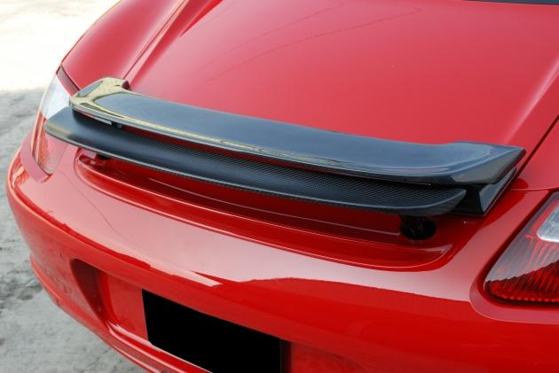 987 Cayman original style spoiler,carbon 2