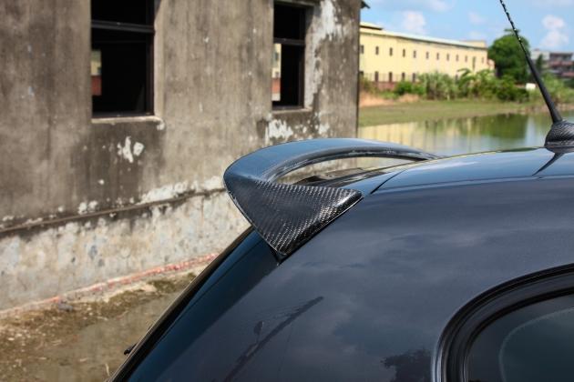 E87 05- AC style rear spoiler,carbon 1